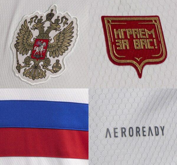 Russie Euro 2021 details maillot exterieur foot