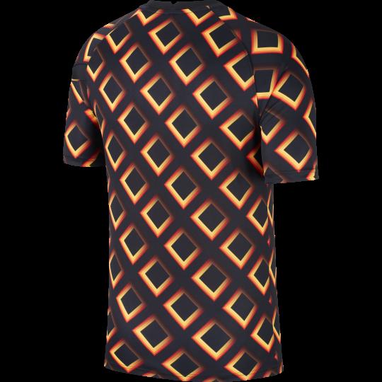 maillot avant match as roma noir orange 2020 21 1
