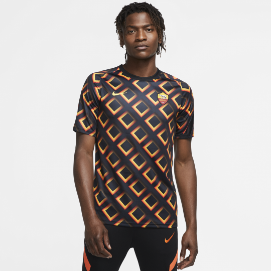 maillot avant match as roma noir orange 2020 21 3