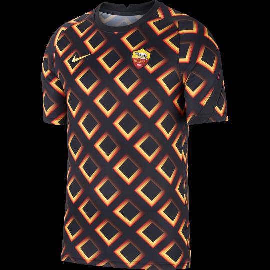 maillot avant match as roma noir orange 2020 21