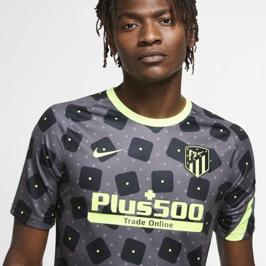 maillot avant match atletico madrid noir jaune 2020 21 2