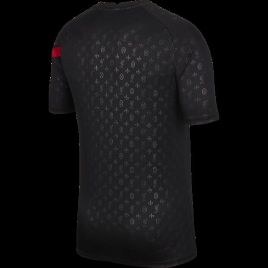maillot avant match liverpool noir rouge 2020 21 1
