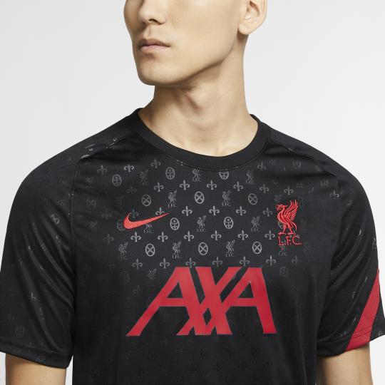 maillot avant match liverpool noir rouge 2020 21 3