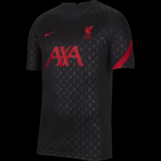 maillot avant match liverpool noir rouge 2020 21