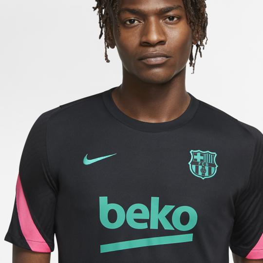 maillot entrainement fc barcelone noir rose 2020 21 2