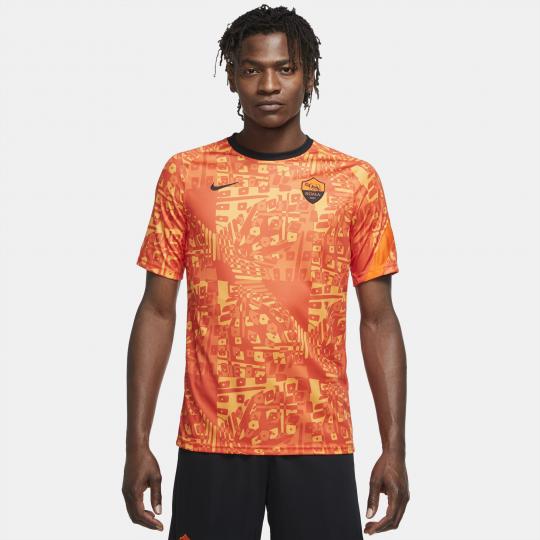 maillot avant match as roma orange 2020 21
